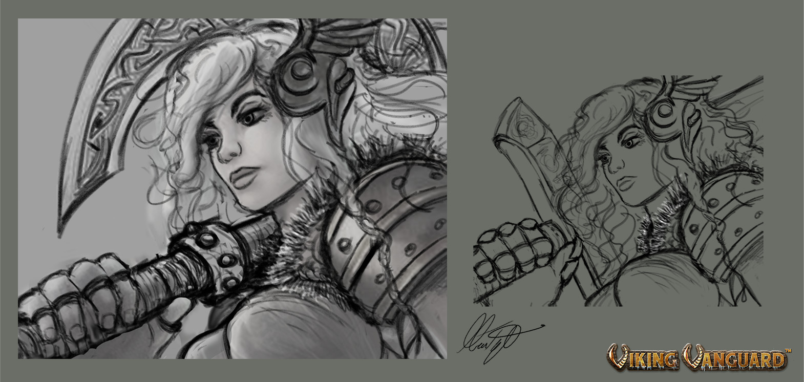 Valkyrie early concept drawings