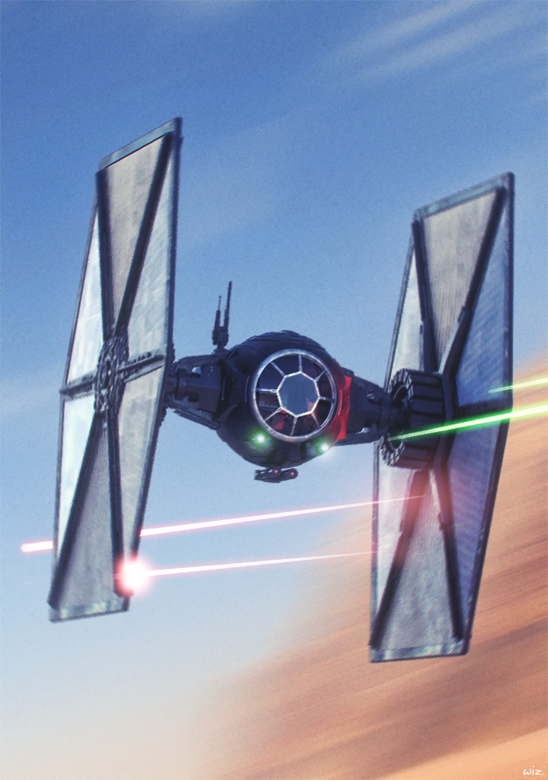 Paul wiz johnson starwars firstorder tiefighter