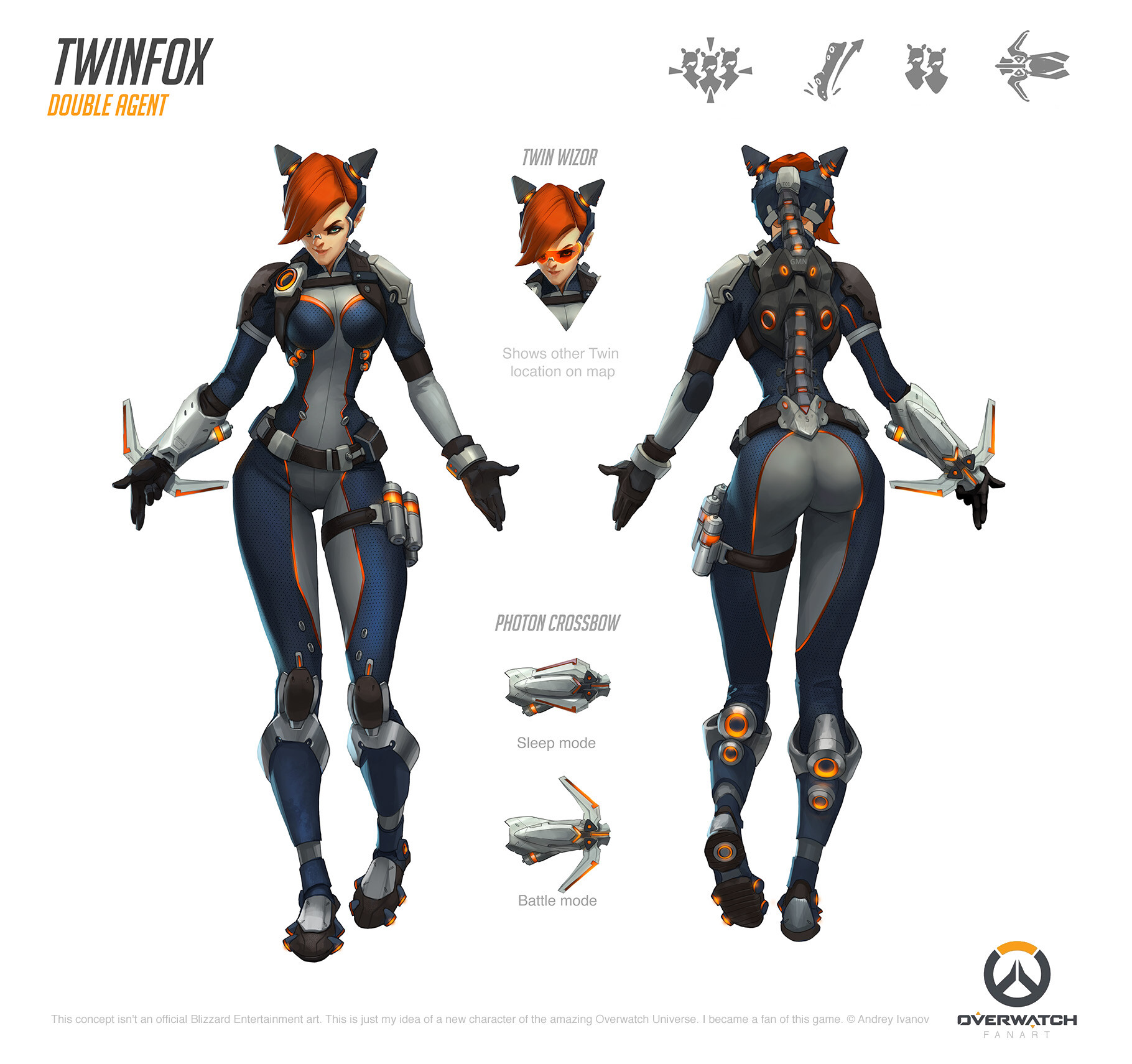 artstation twinfox fan made overwatch character andrey ivanov