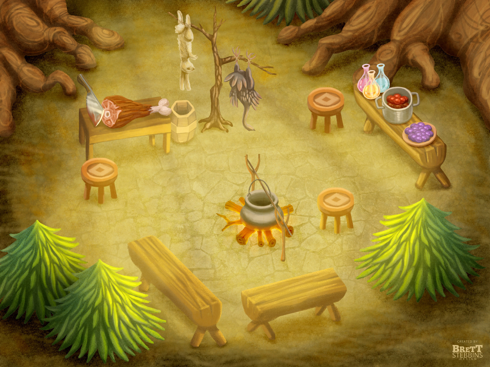 Final Concept Art - Common Cooking Area