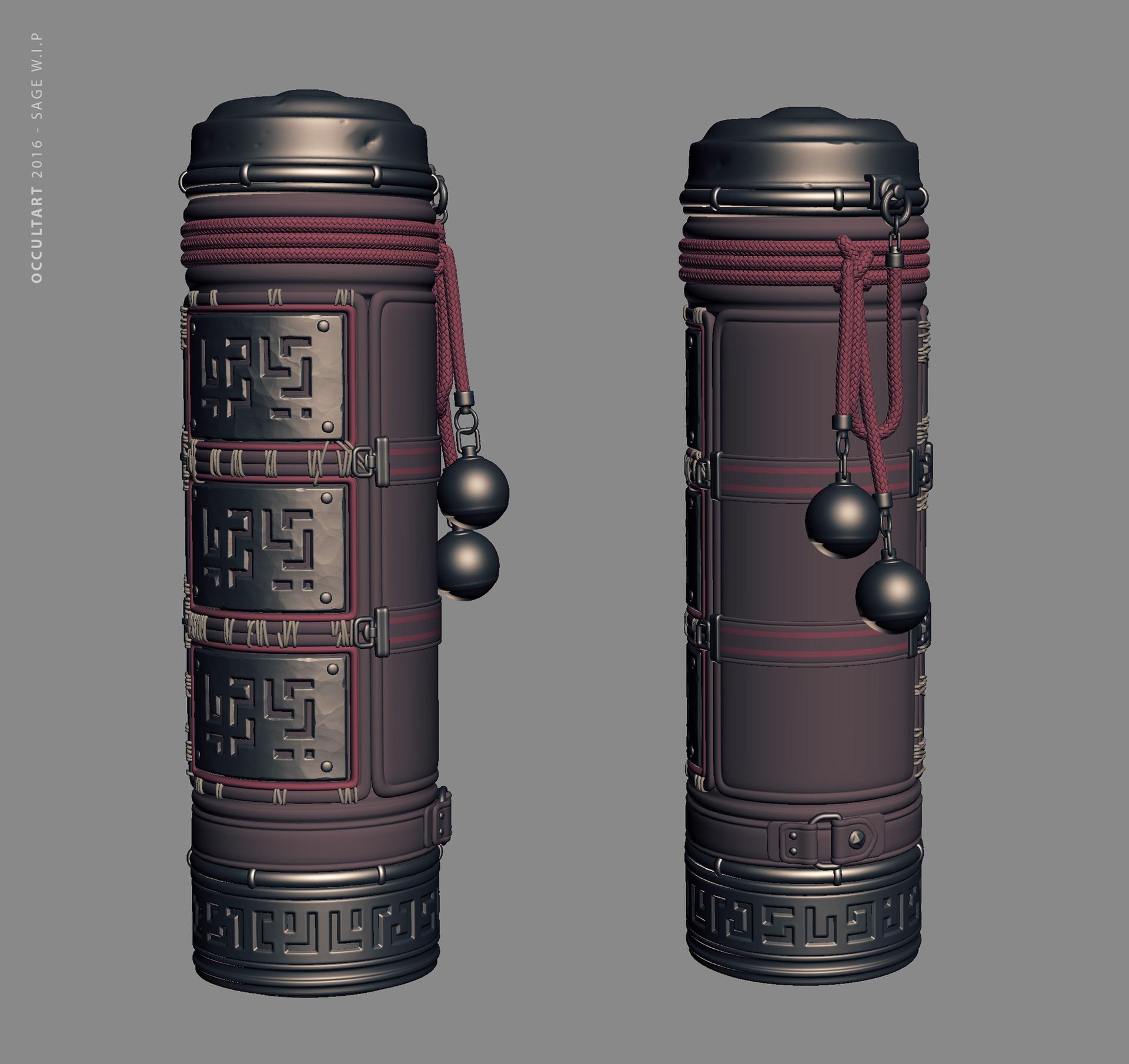 Occultart   sage scrollholder large