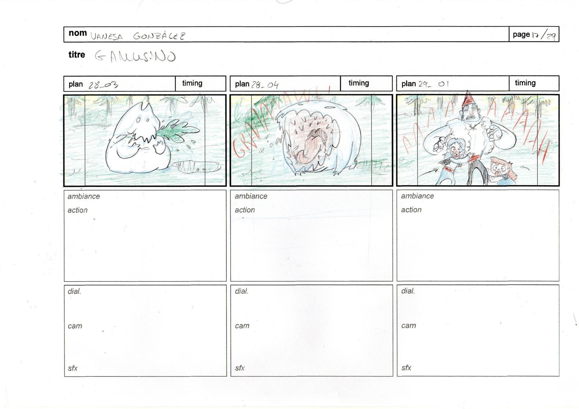 Vanesa gonzalez storyboard gamusino pages 17