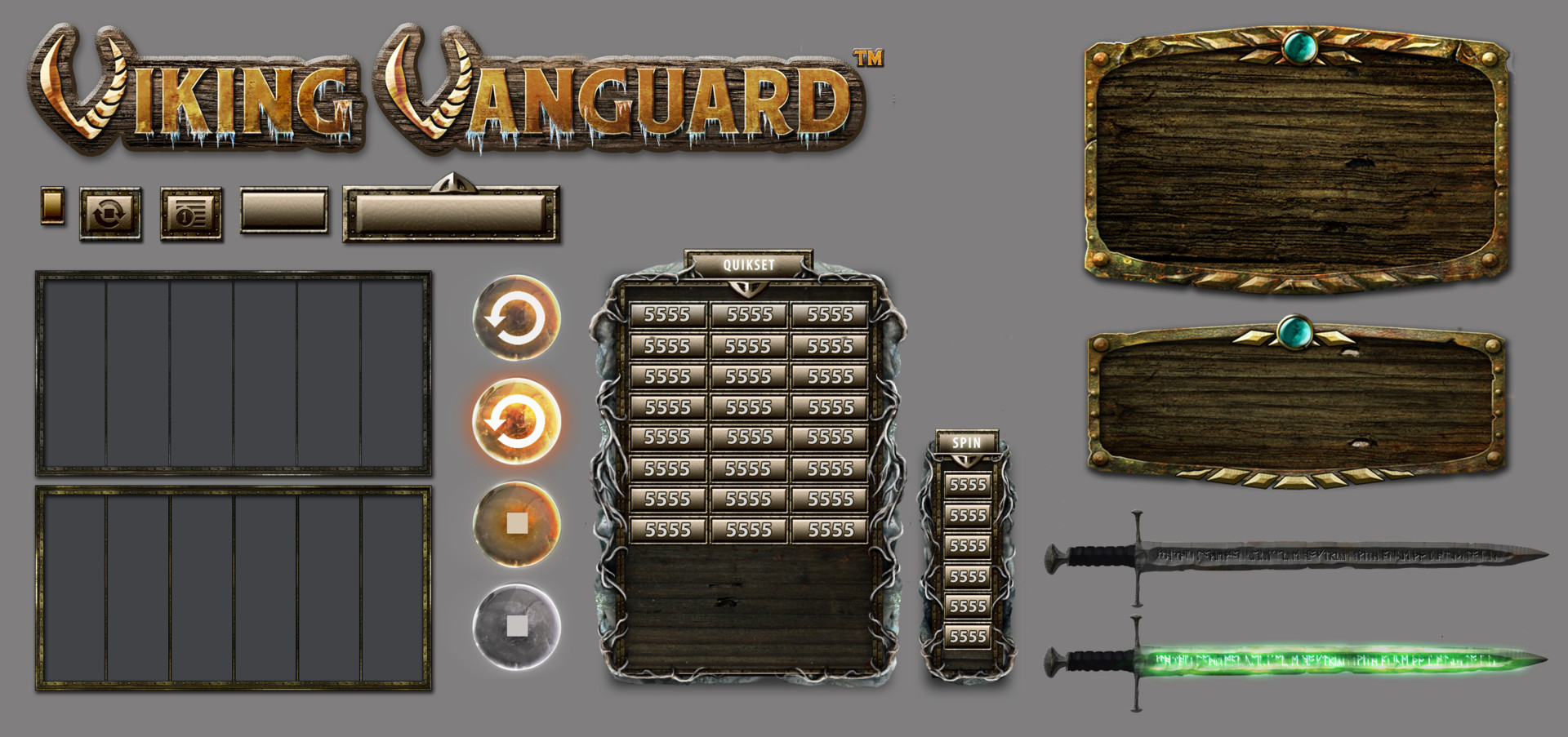 UI Elements & Logo for Viking Vanguard