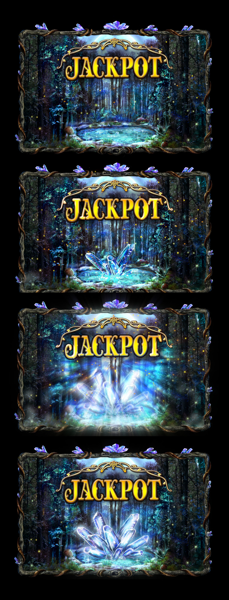 Stills from jackpot animation