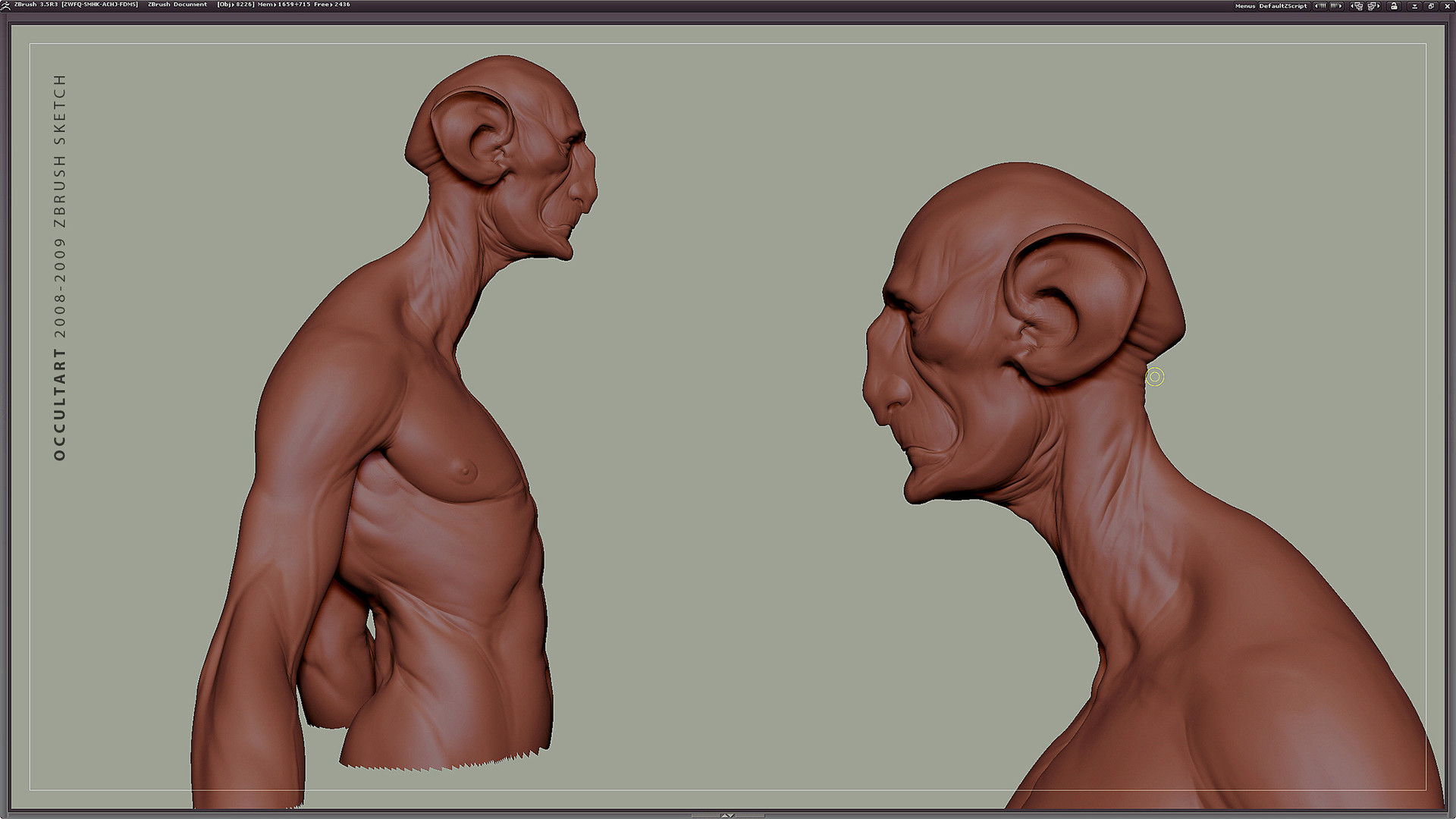 Occultart   zbrush anatomy sketch 003