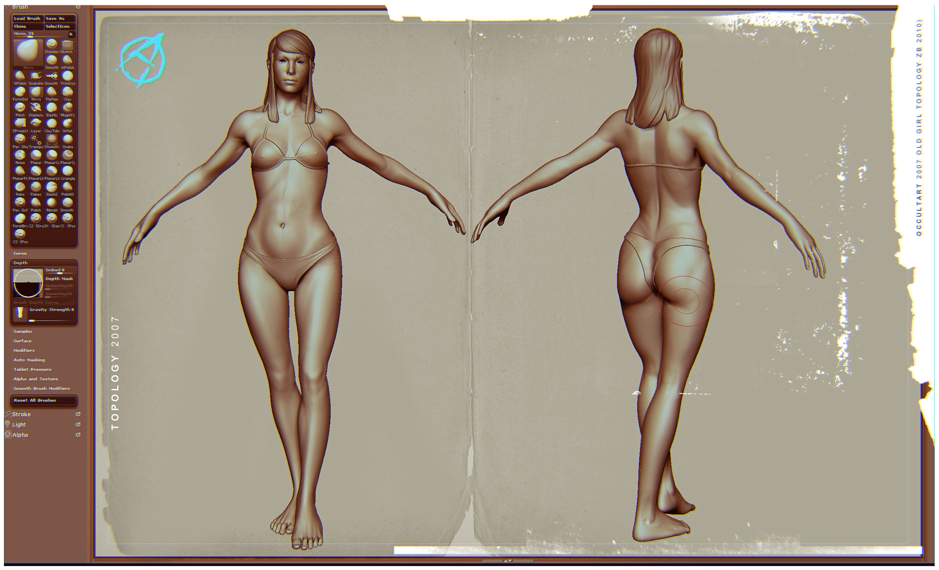 Occultart   female figure 2007