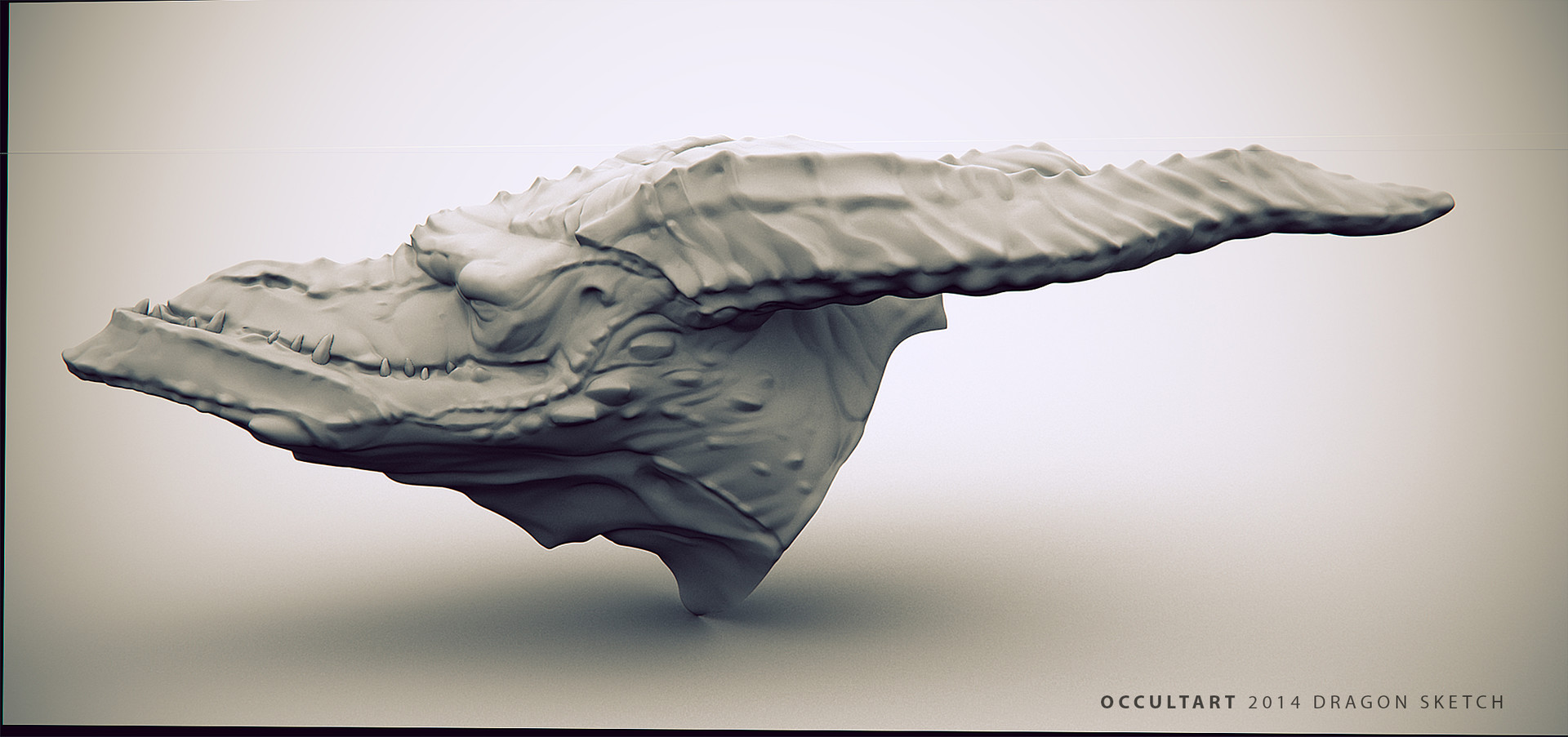 Occultart   dragon render 03