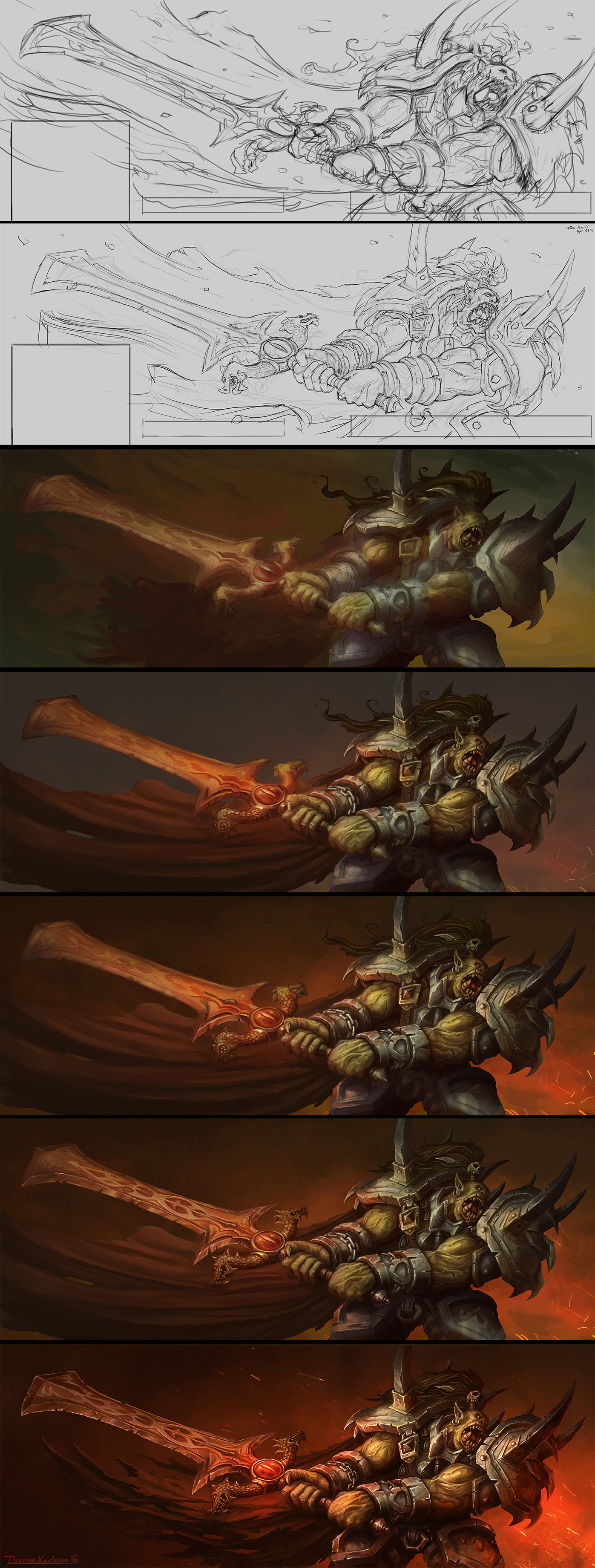 Thomas karlsson orc warrior process