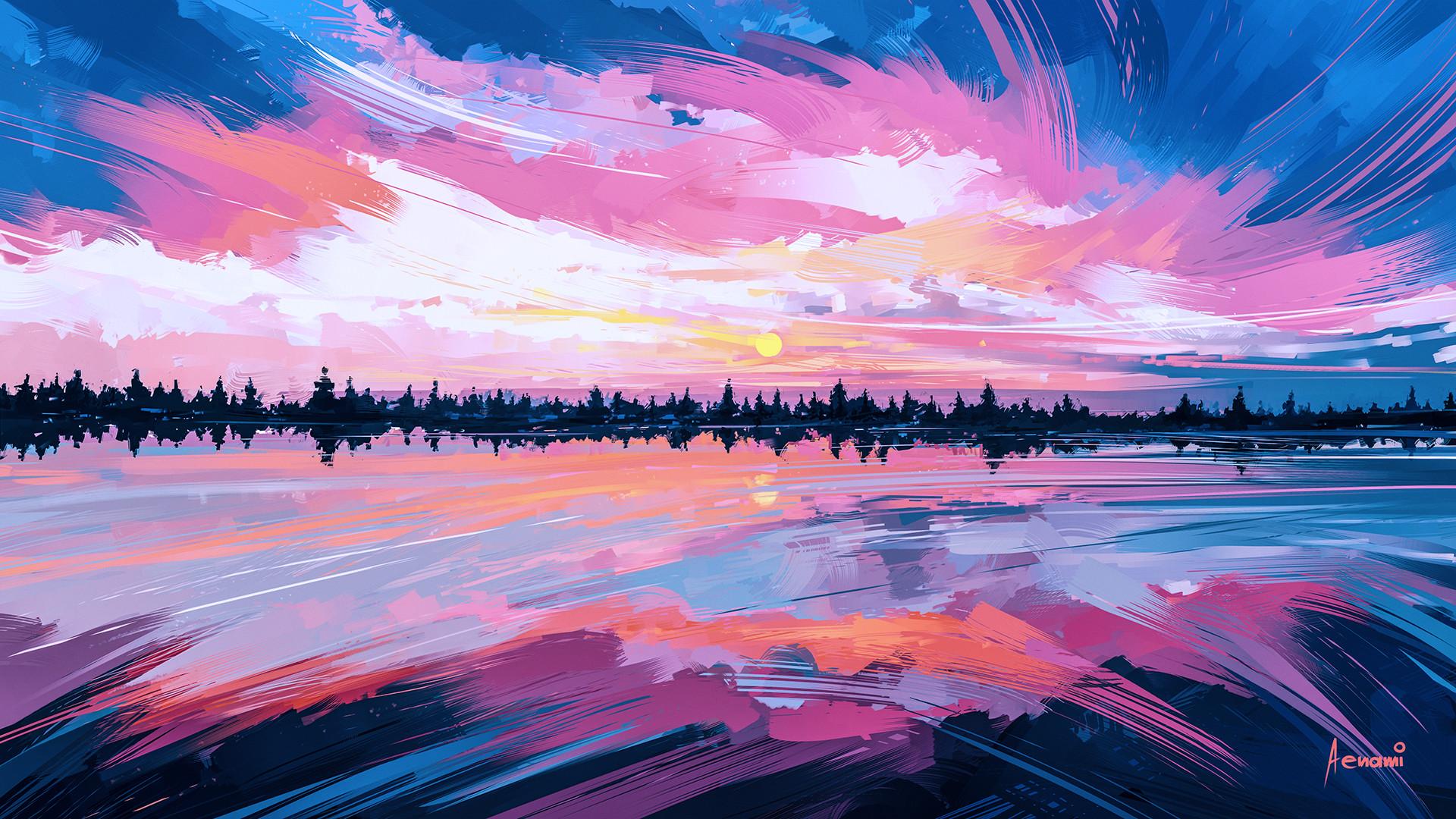 Artstation Sky Mirror Alena Aenami