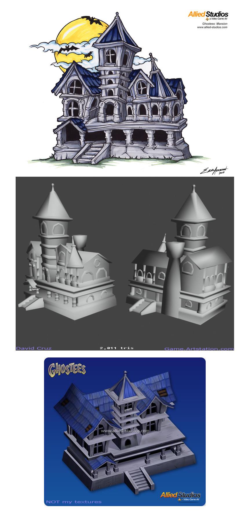 David cruz ghostees concept mansion