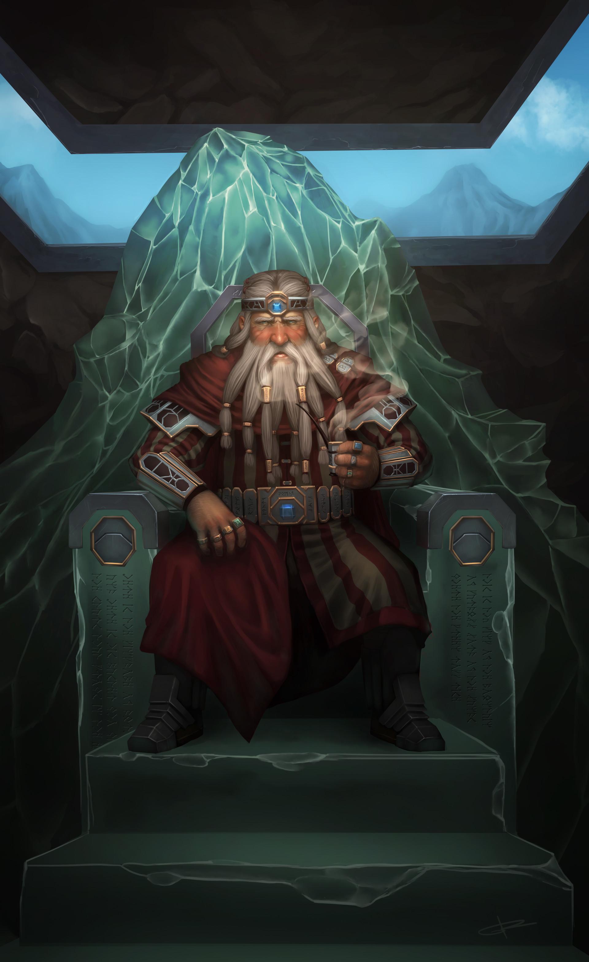Alejandro cervantes dwarf king of the mountain by grenias d6uosw6