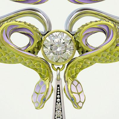 Nacho riesco gostanza colgante serpientes art nouveau ksr1 500k