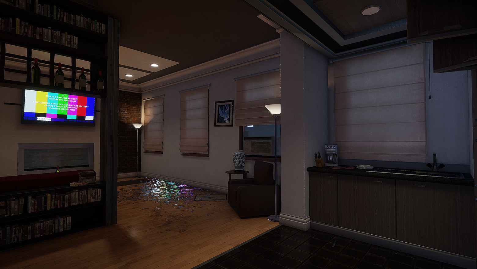 I created some new blinds that allow light to pass through them creating a more natural and realistic look.