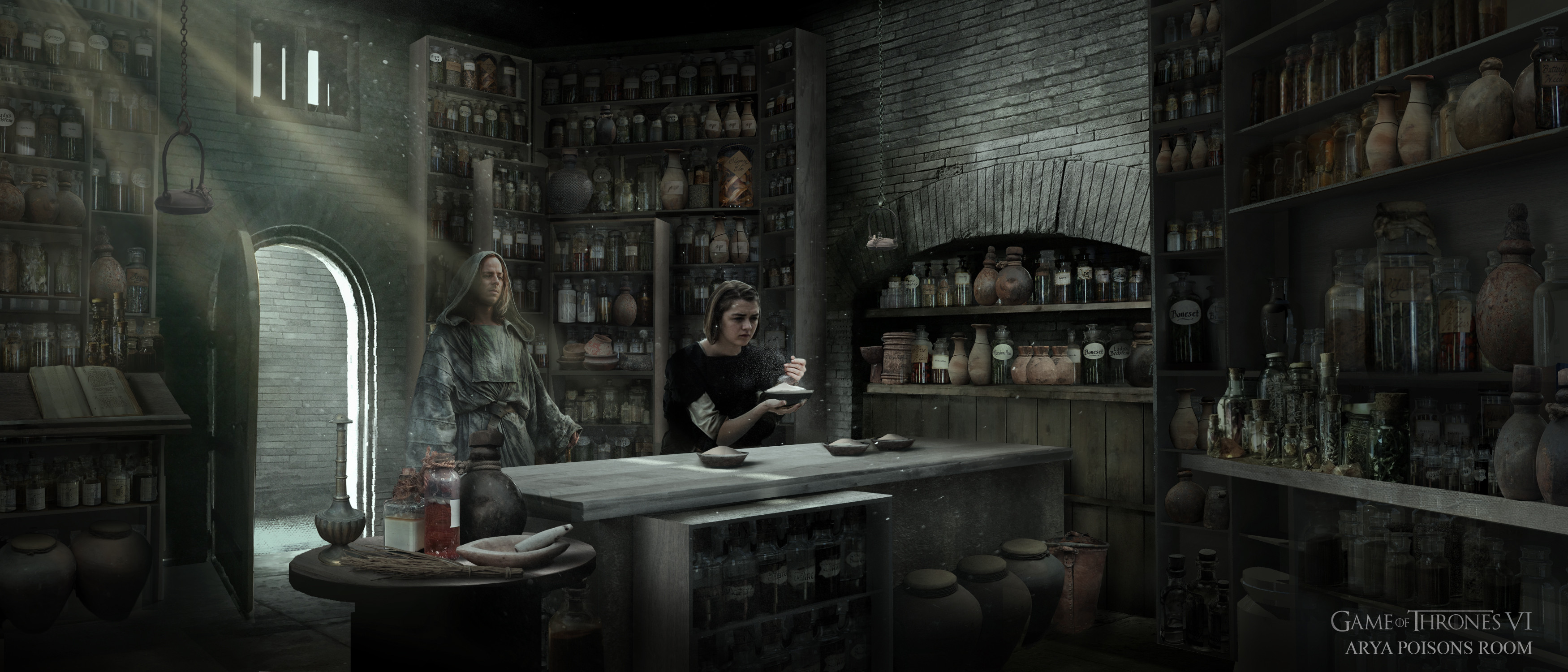 Arya, Poisons room