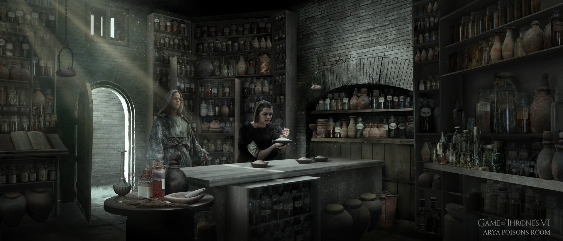 Arya, Poisons room