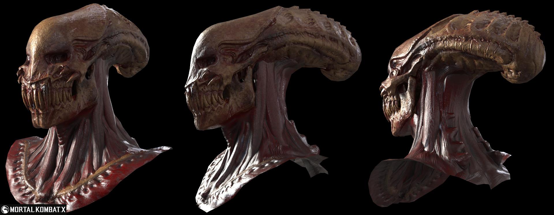 Giancarlo Arriola Xenomorph Skulls For Mortal Kombat X