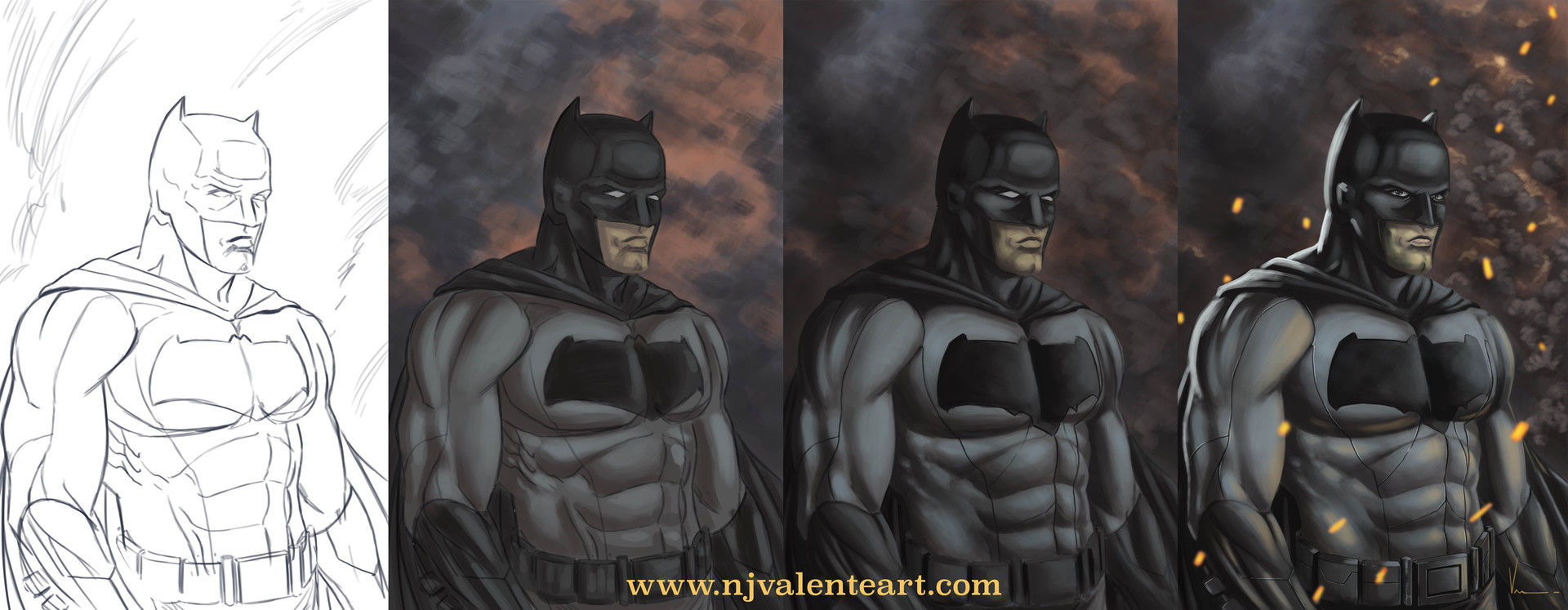 Nick valente batmandigitalpaintingprocess
