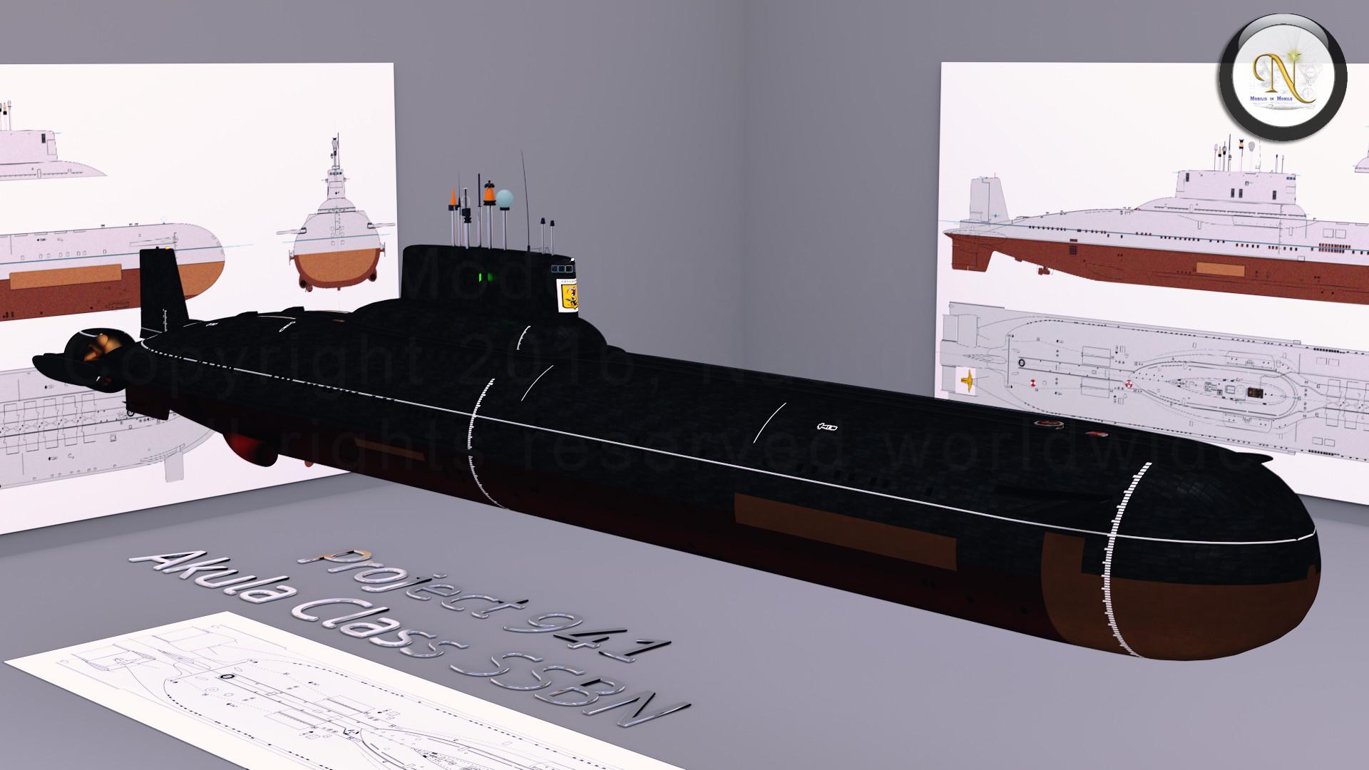 ArtStation - Typhoon Class Submarine, Luigi Zollo