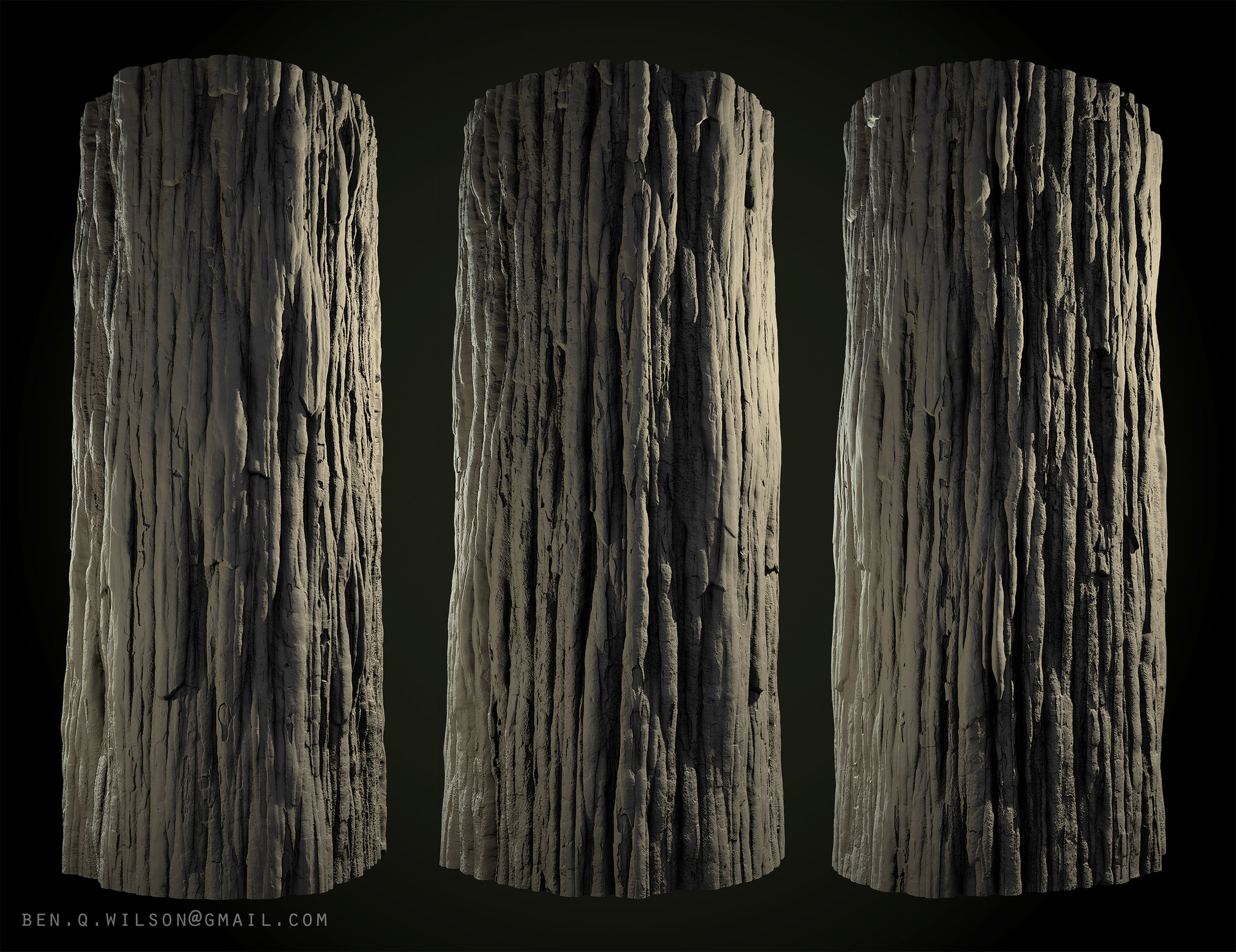 Ben wilson redwood bark a render b