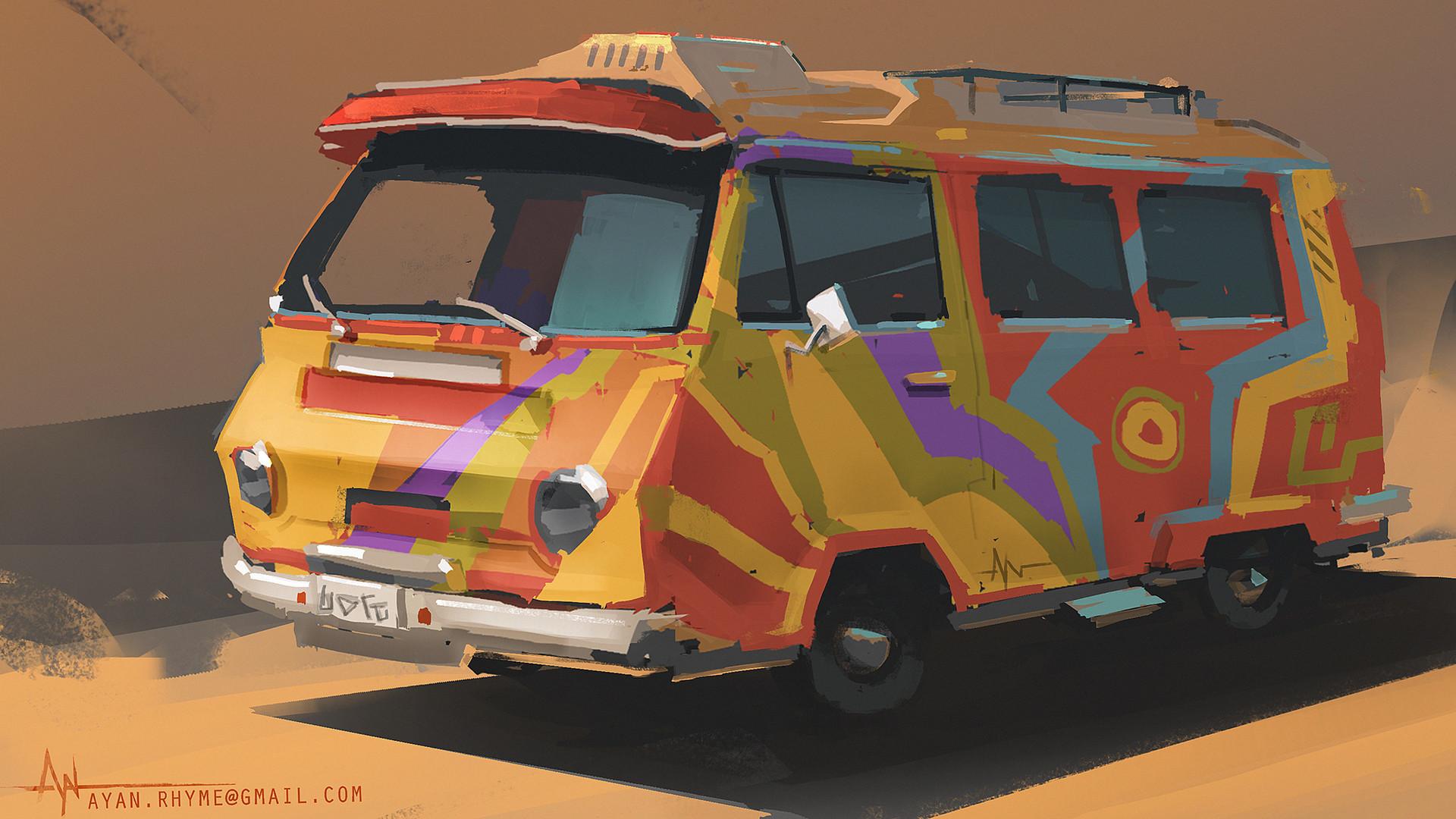 Ayan nag hippie bus by ayan nag lr