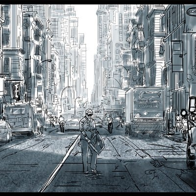 Storyboard Sample - CITY SHOT -