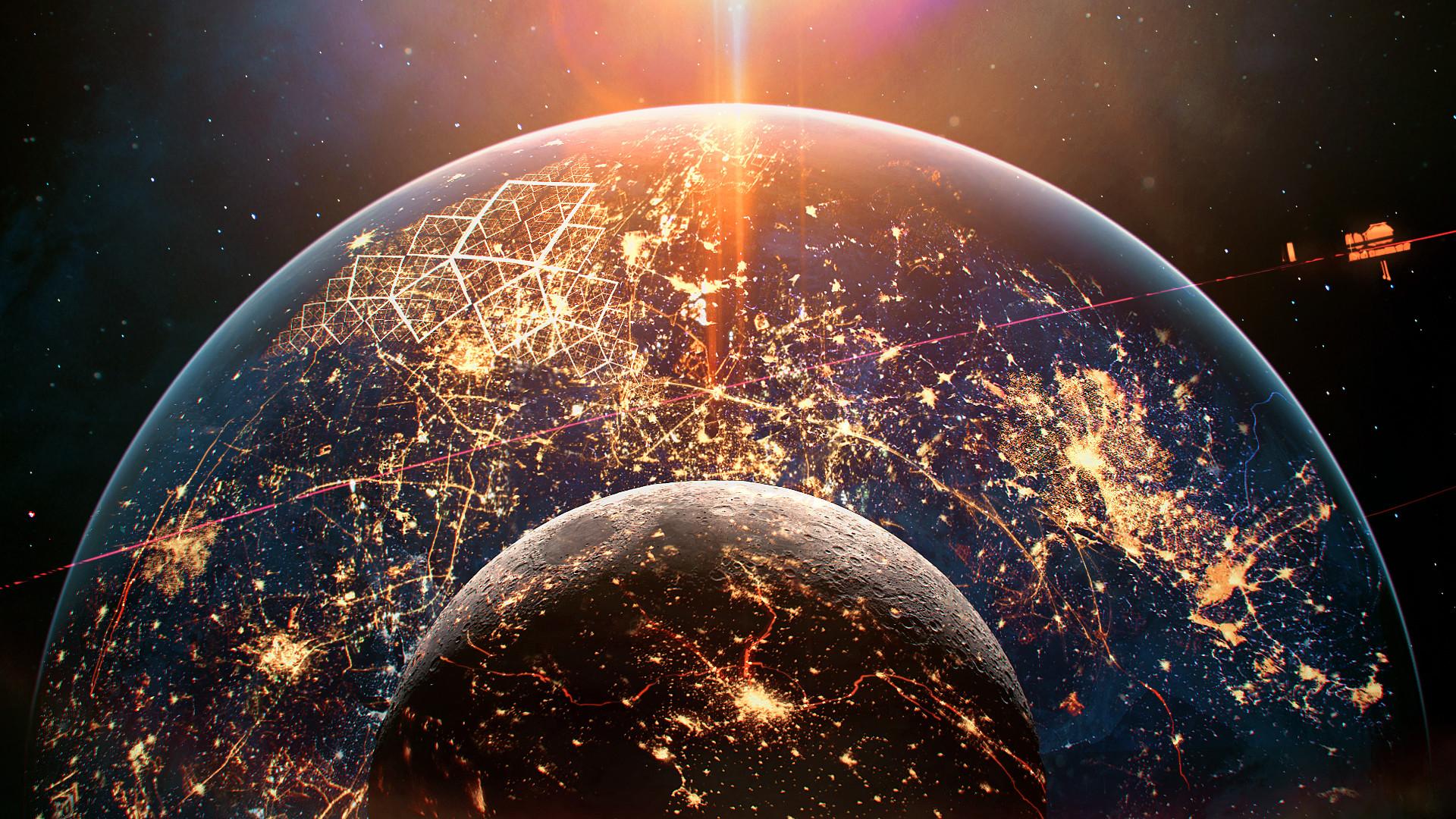 Звёздное небо и космос в картинках - Страница 6 Jakub-grygier-001-ecumenopolis-ab