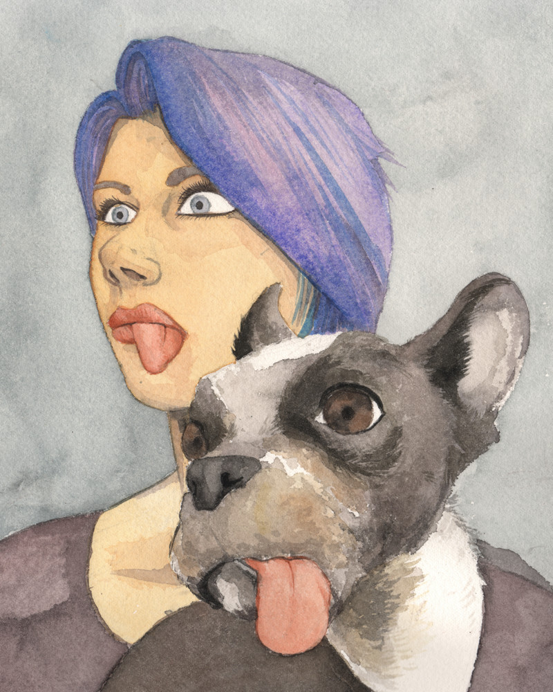 Friend and her dog