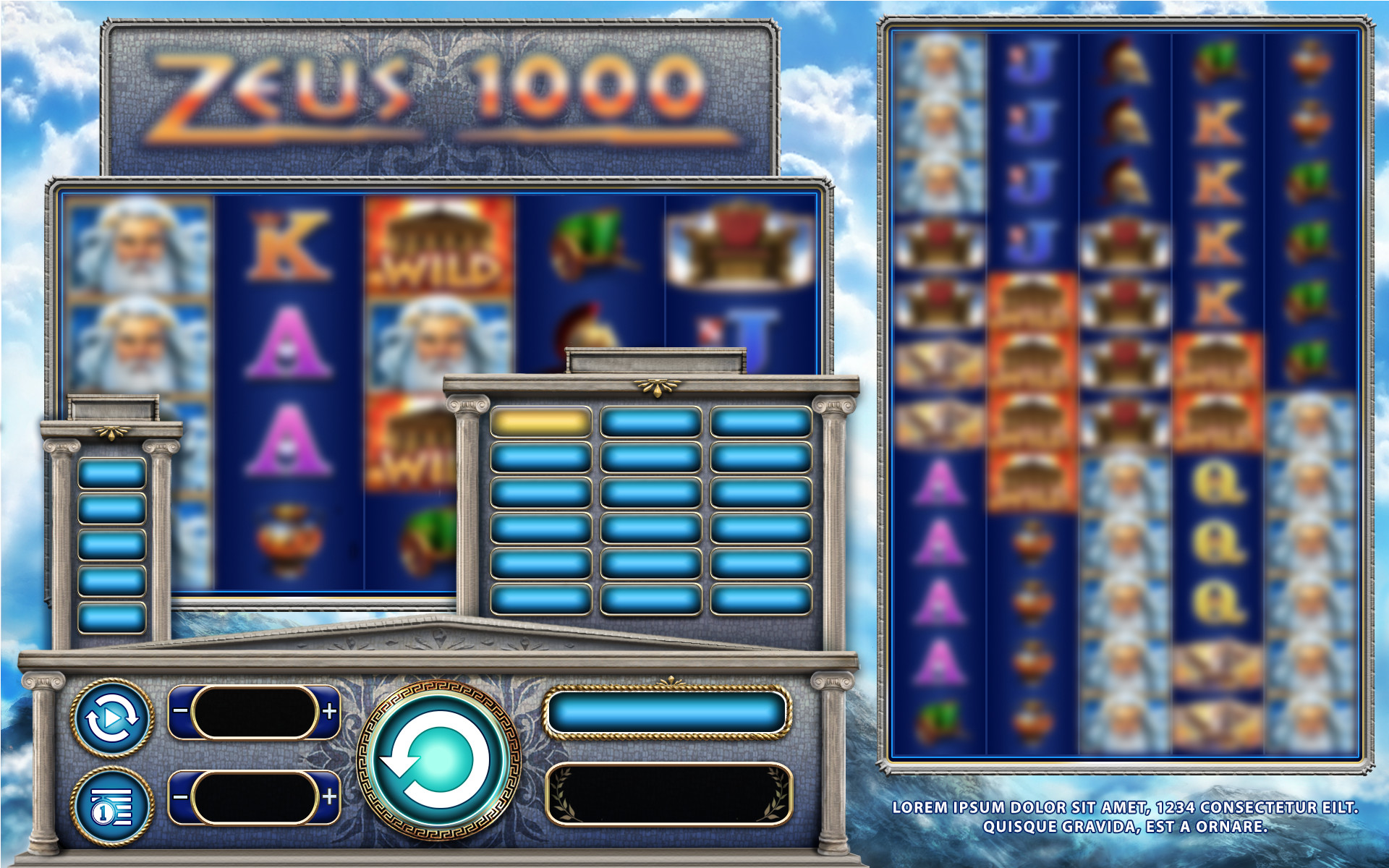 UI Art and Loadscreen for Zeus 1000