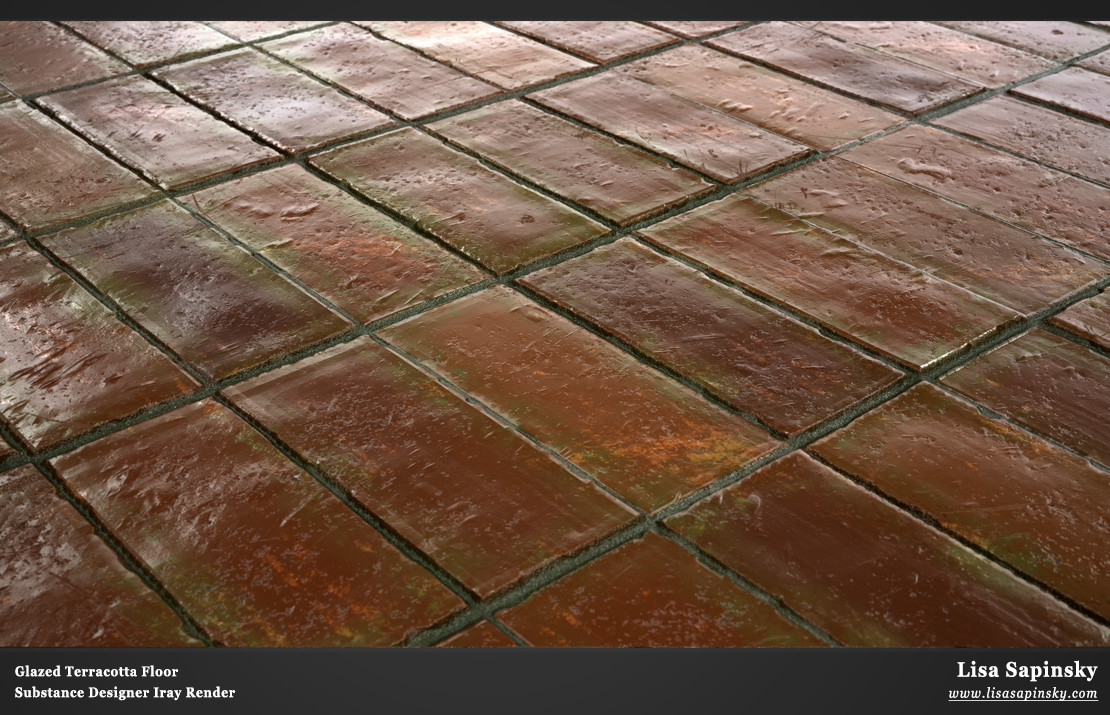 ArtStation - Glazed Terracotta Floor Tiles, Lisa Sapinsky
