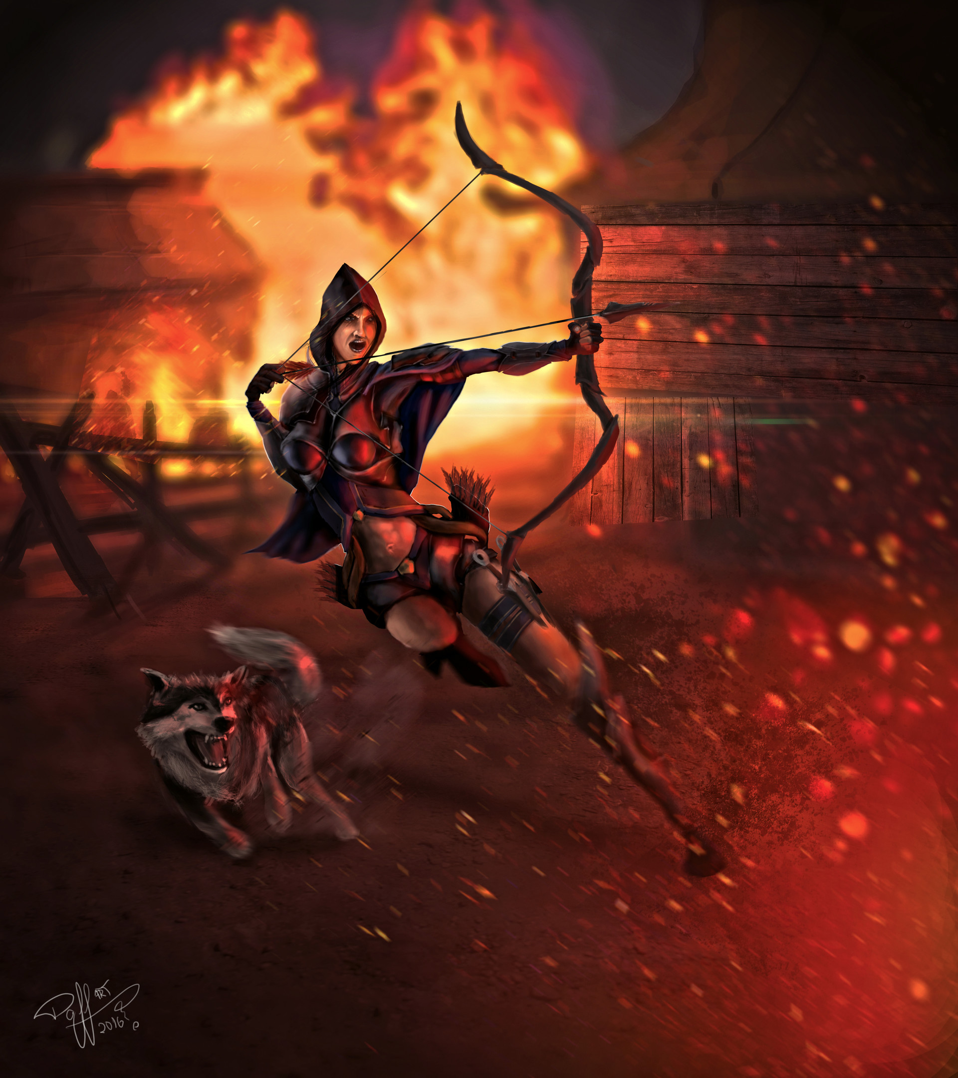 D3 Demon Hunter Concept Art