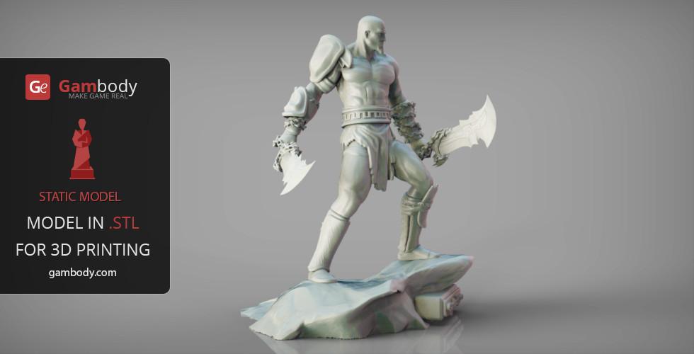 Gambody 3DDesigns - God of War Kratos 3D Model   Static Figure