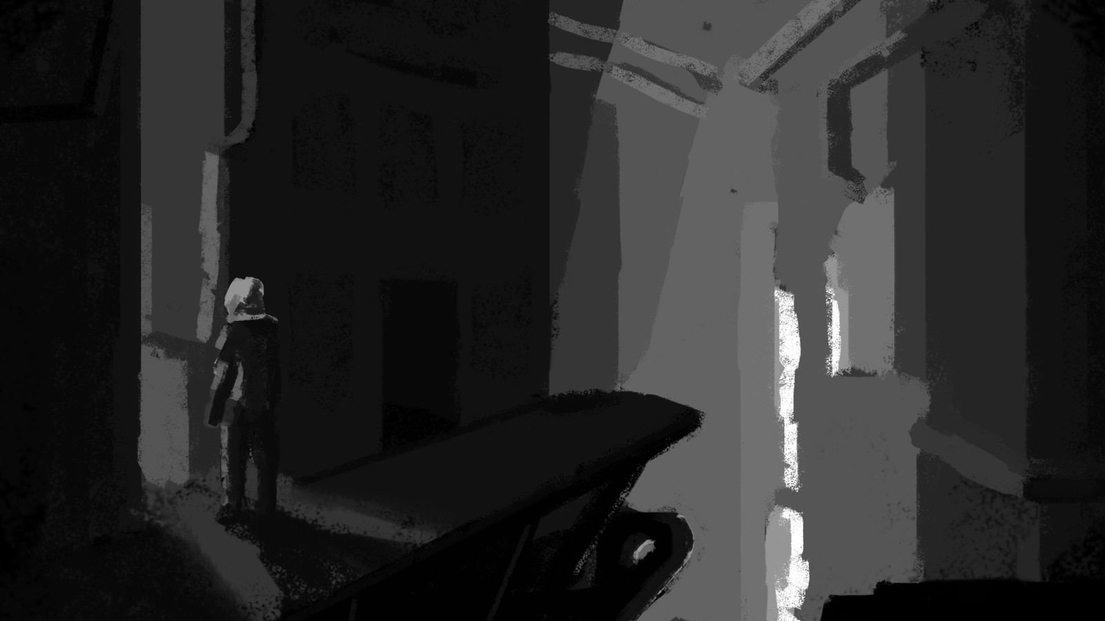 Value study, original concept from a frame in the animation.