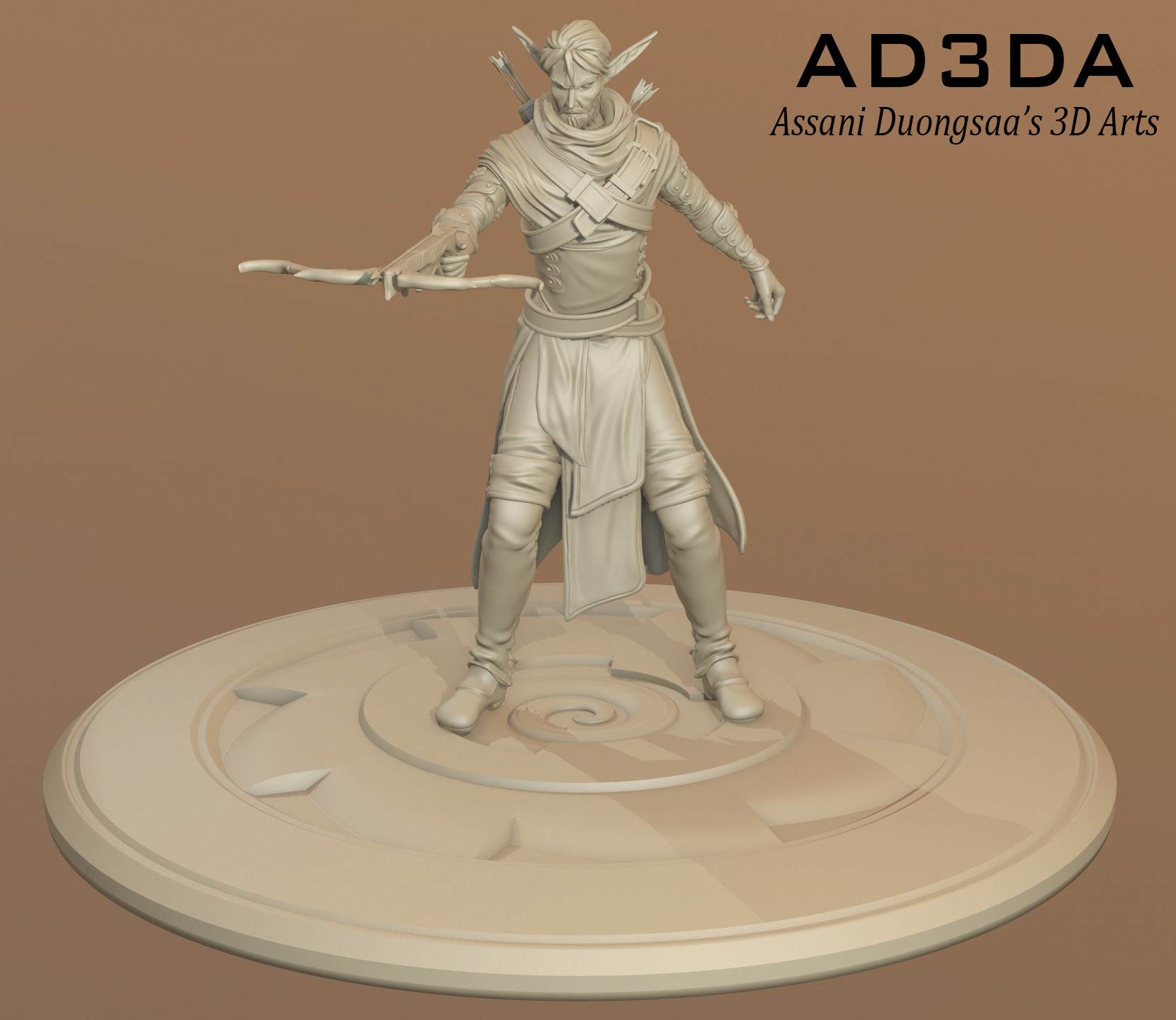 Elven Hunter - Sculpt