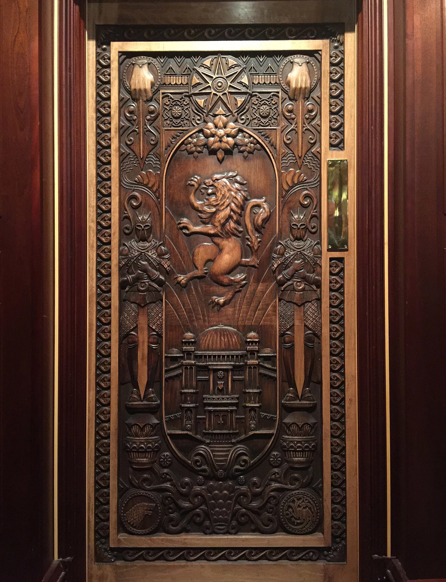 Me standing next to the final door #10 & ArtStation - Game of Thrones - Doors Kieran McKay