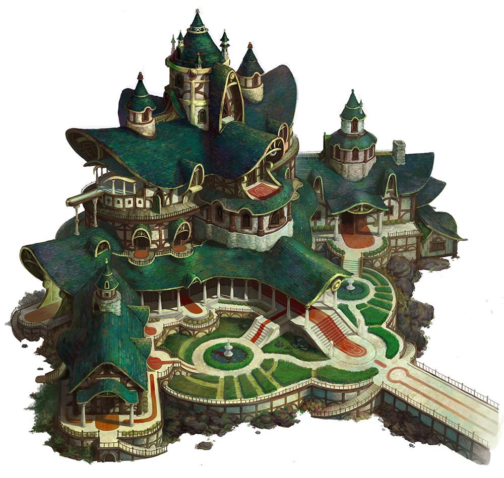 Artstation Castle Of Elf Hee Uk Jung