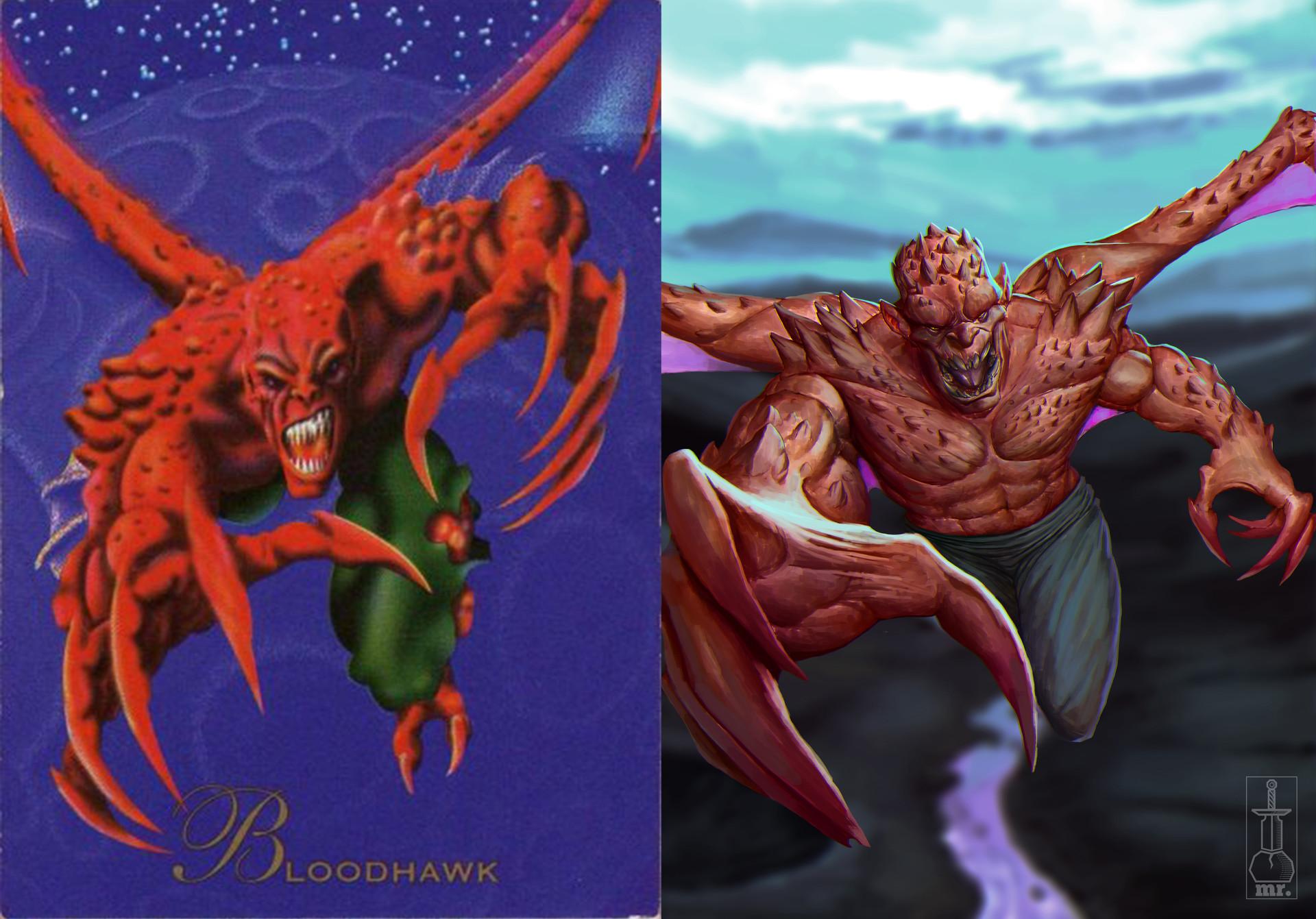 Juanda rico bloodhawk comparation