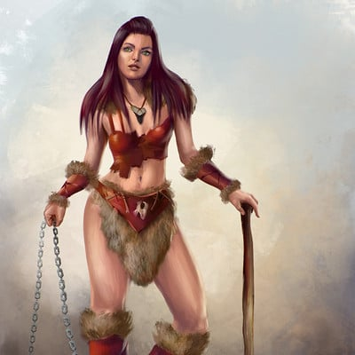 Gabriela shelkalina prehistoric woman warrior