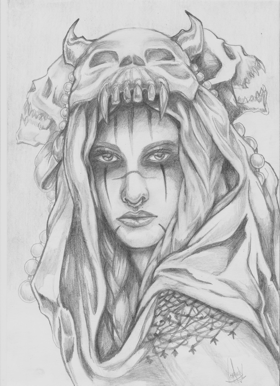 Previous drawing, in pencil. 2015