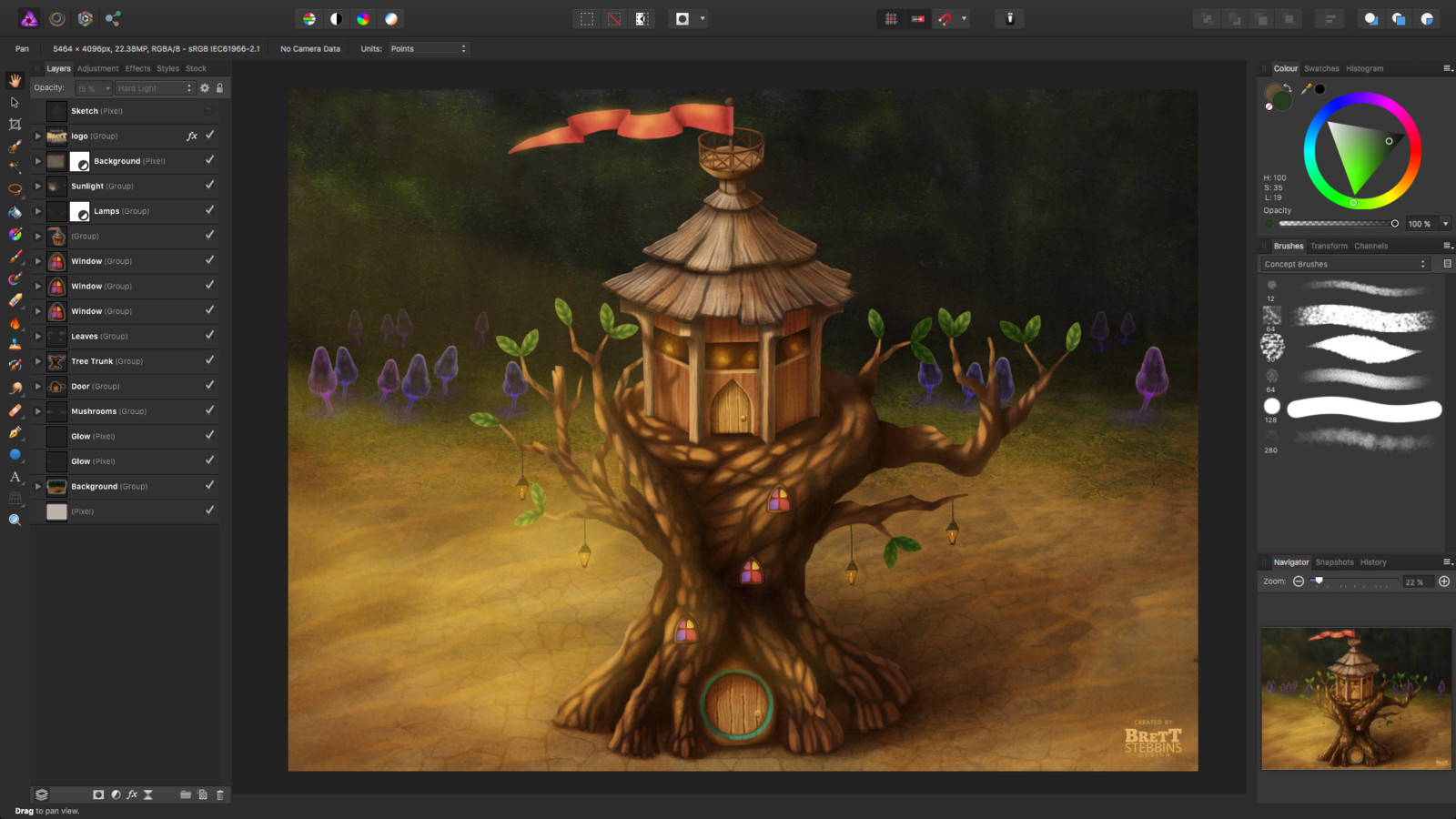 Process Step 3 - Final Textures, Photo Bashing and Light Effects