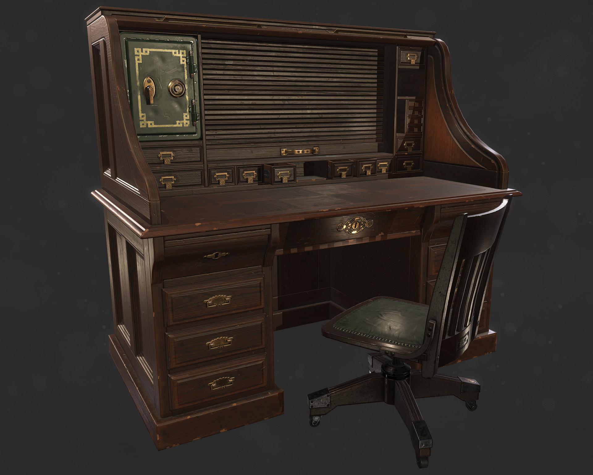 Superior Antique Office Desk