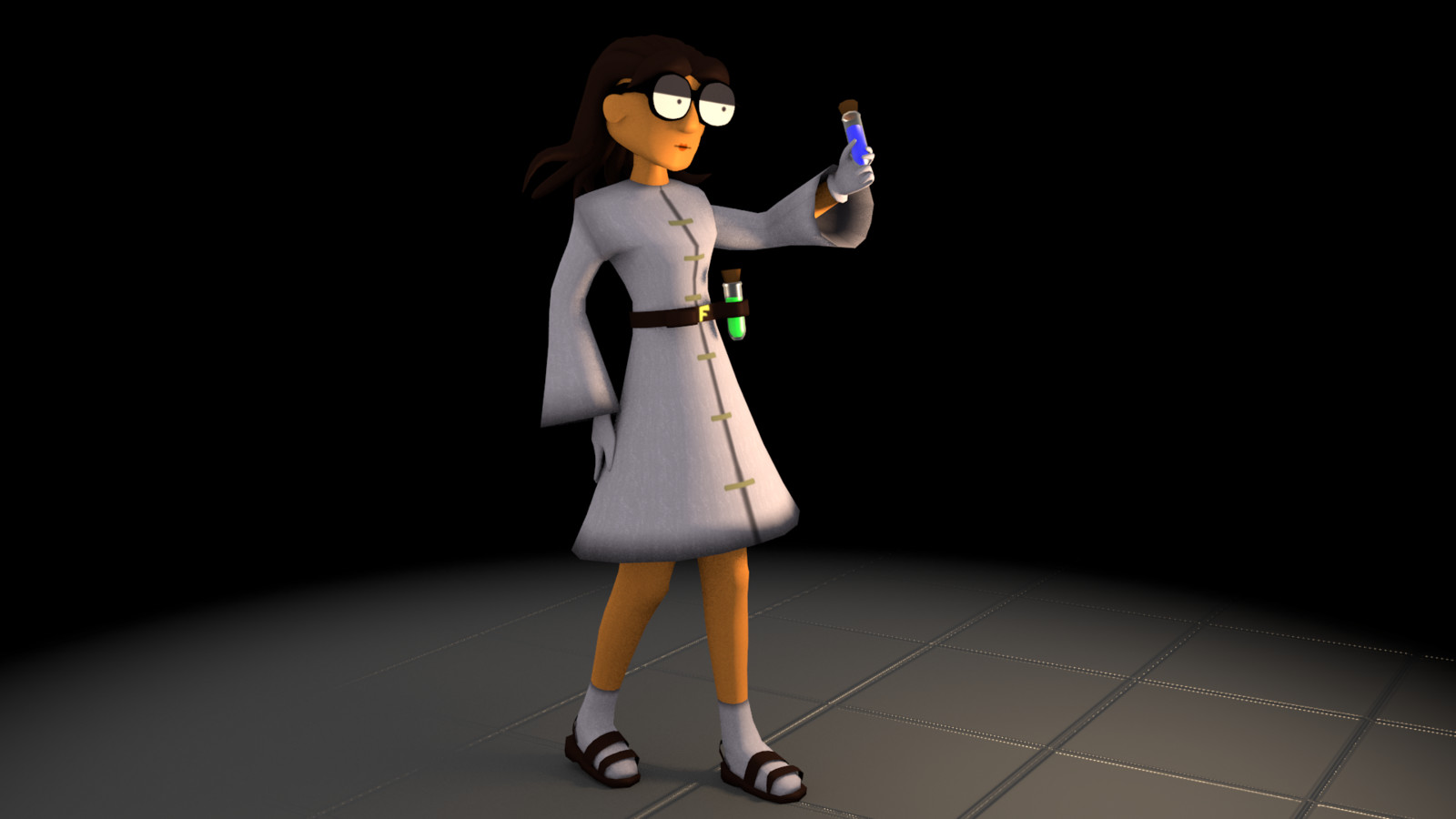 """""""Was this the toxic weapon? Or leftovers from what I was drinking with my lunch?"""" Dr. Fusion gets quite scatterbrained herself sometimes."""