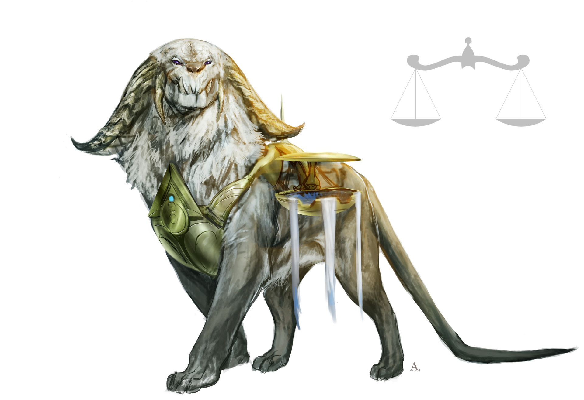 Aleksi briclot magic hook concept azorius creature lion giant 01