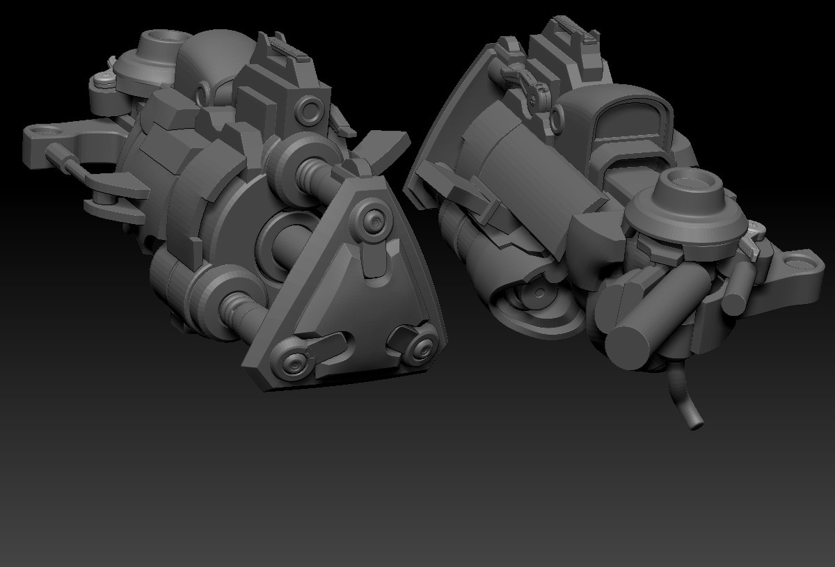 Rebuilt some major forms on the weapon arm, still not sure exactly how most of this is going to come together just yet