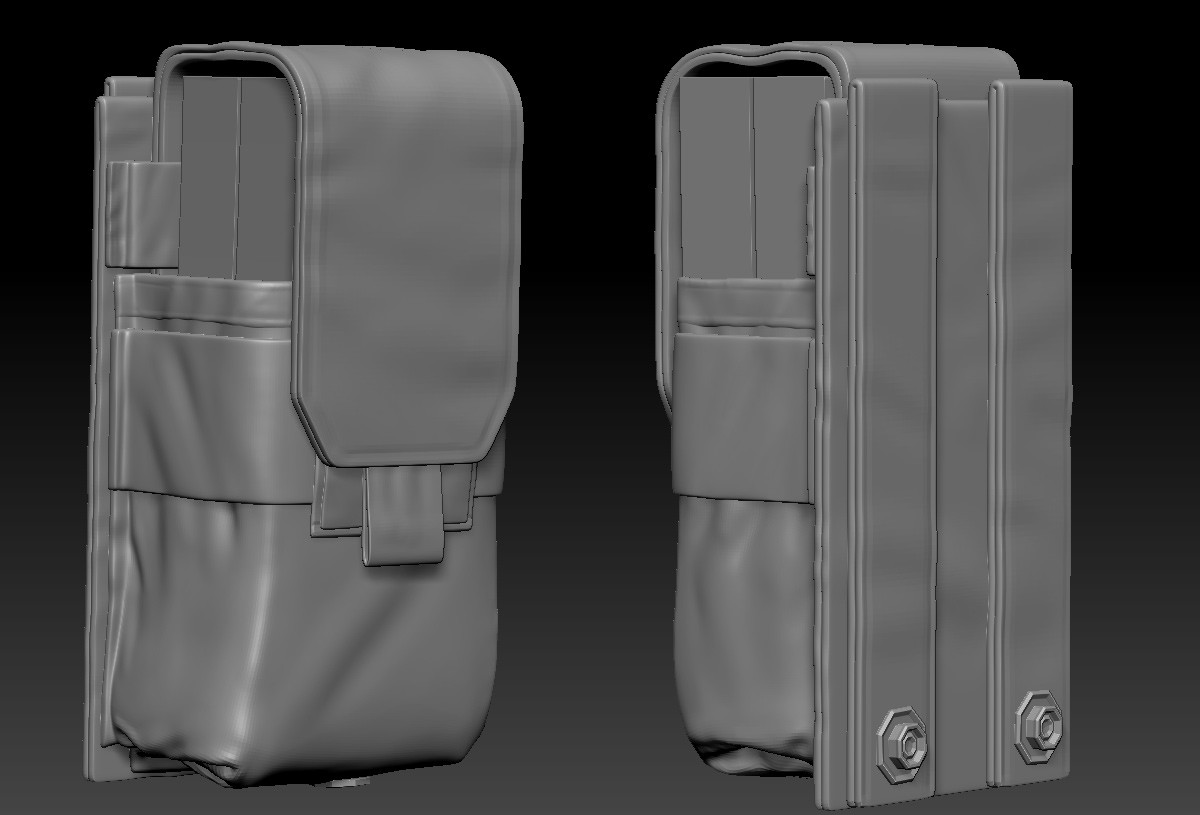 Right now the weapon has got an m4 mag hanging out the side (but no way to shoot anything)...so I made some ammo packs