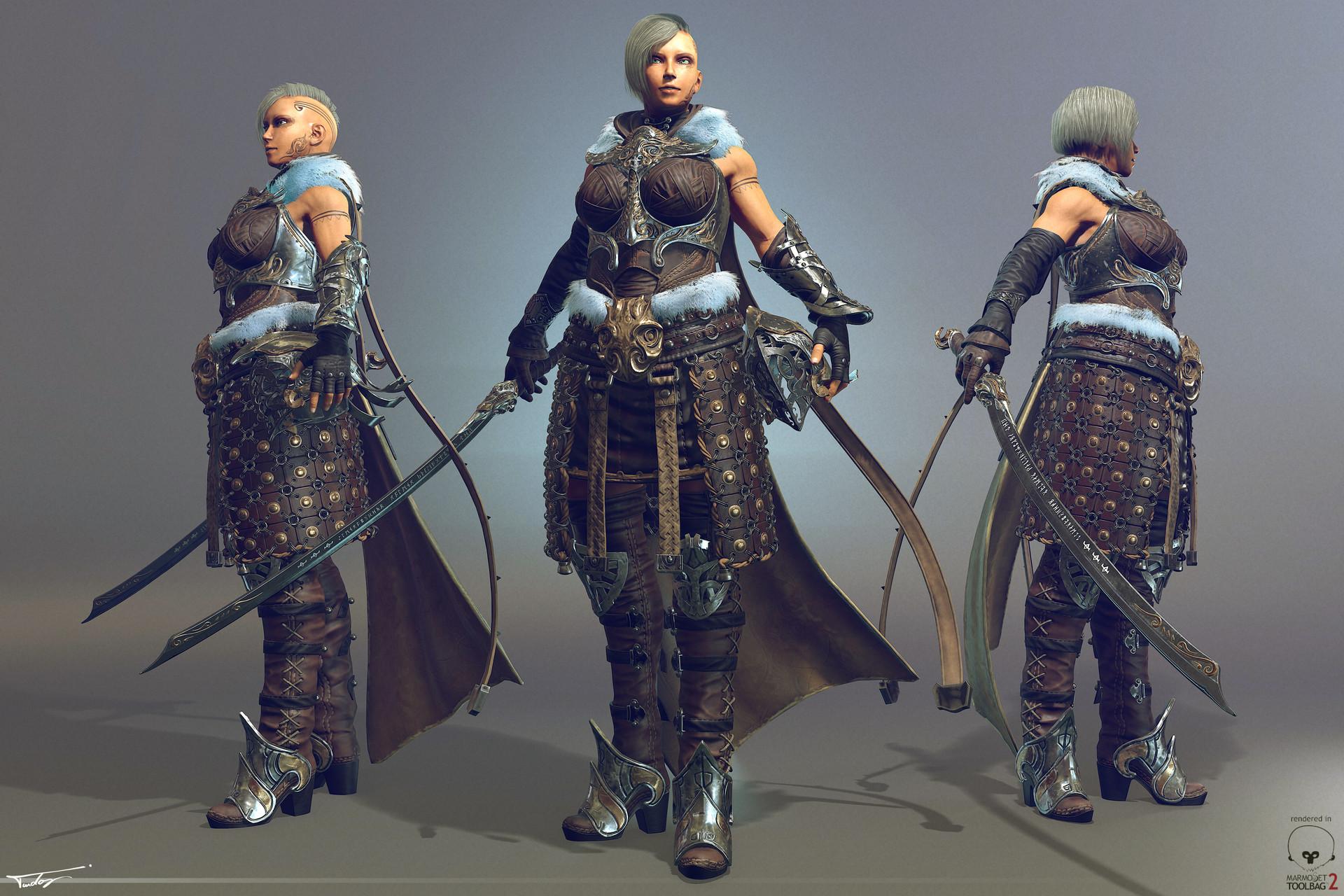 Female warrior aomi