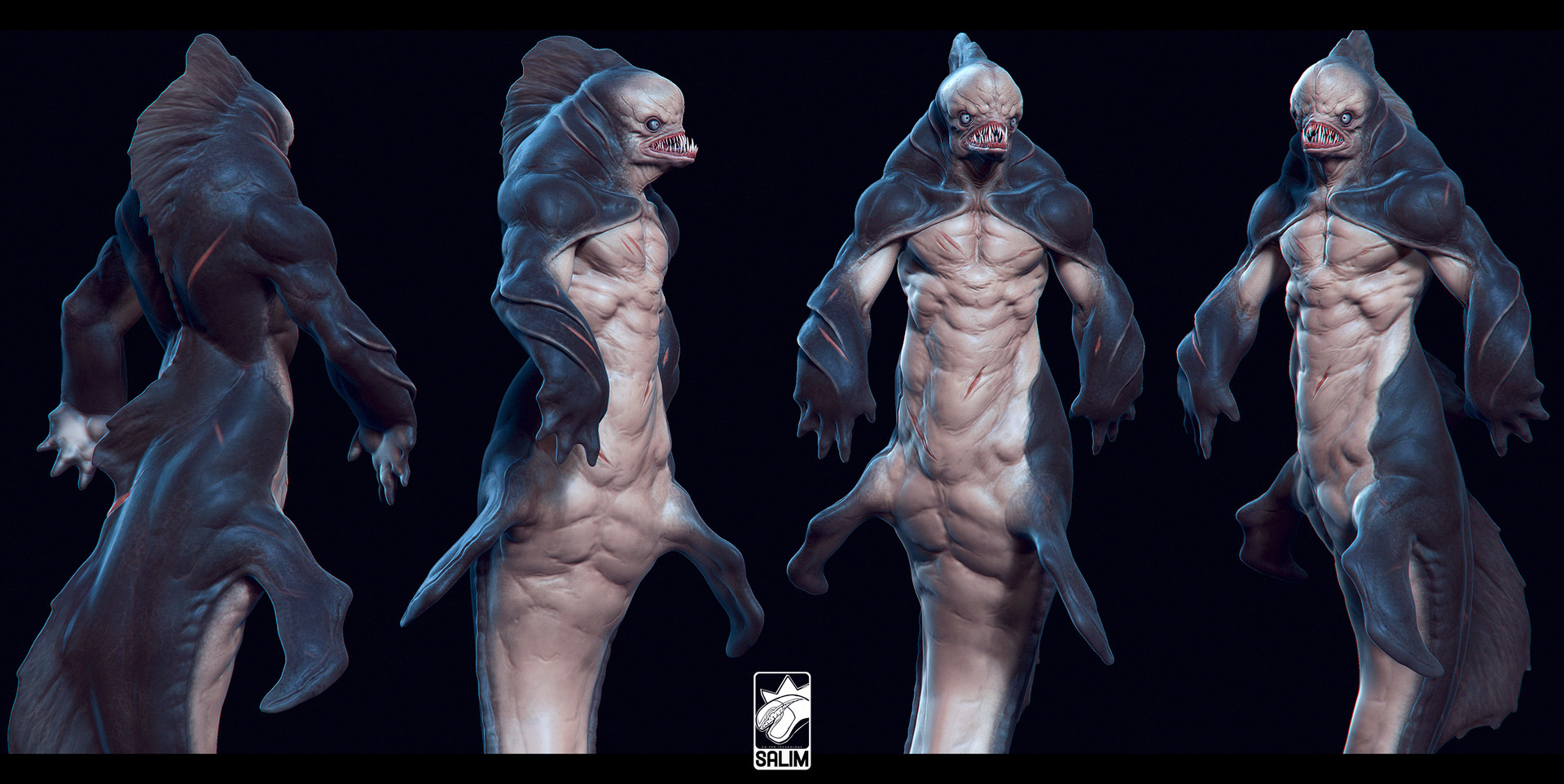 Ljabli salim colors creature concept with tail