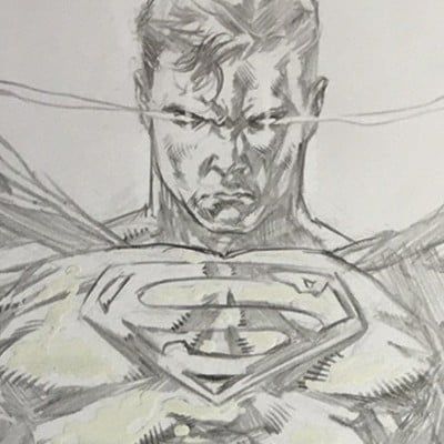 Caanan white superman sketch cover