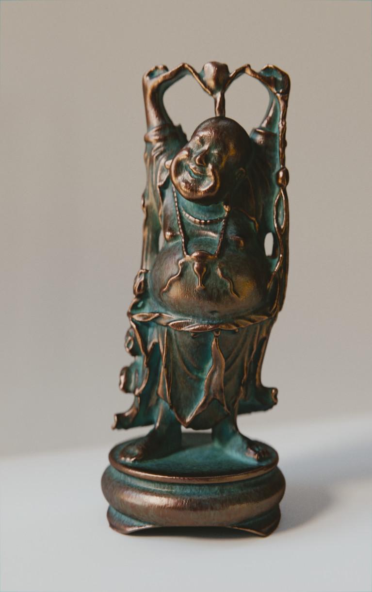 Anthony pilon happy buddha copper