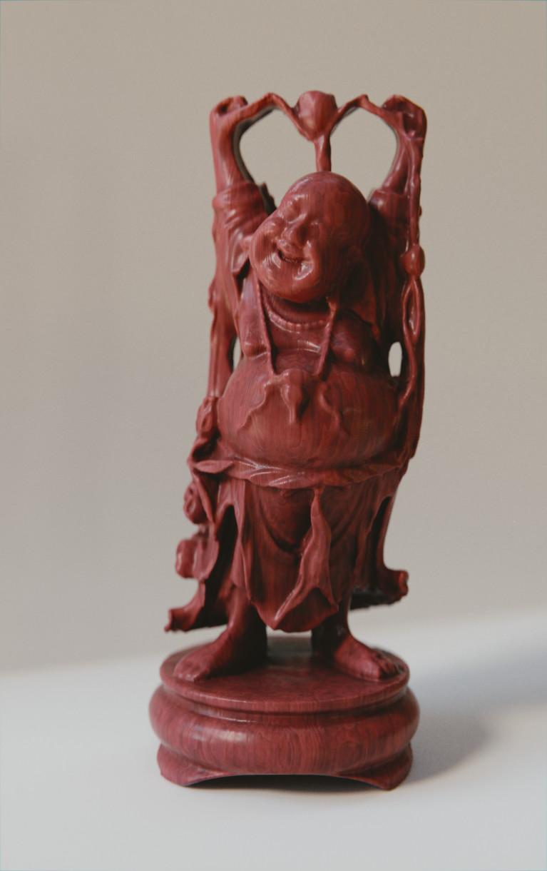 Anthony pilon happy buddha mahogany