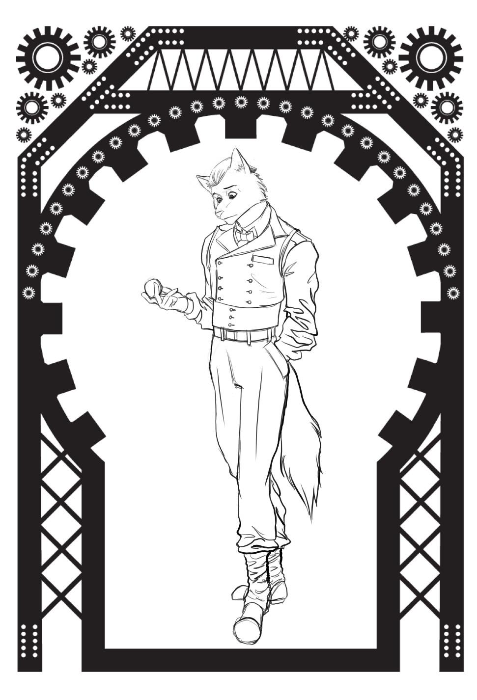 William calleja hans heinrich character design wip